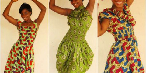 Dresses made by our students in Ghana