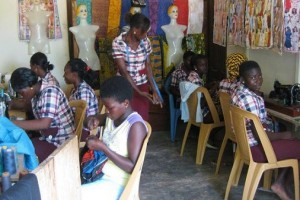 De leerlingen aan het werk