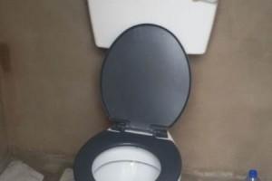 Bouw van het toilet is klaar